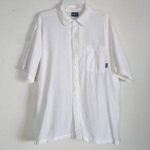 Patagonia Organic Cotton Shirt Button Men's Lg